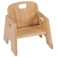 """Stackable chairs are made of premium ash hardwood and complement our premium ash hardwood furniture line. Natural finish allows for easy cleaning. Rounded edges for safety. Sizes stack interchangeably. Fully assembled. Set of 2 chairs. 5"""" seating height."""
