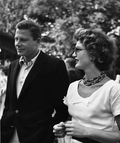 Jackie with Michael Canfield, her sister Lee's first husband, in 1955.