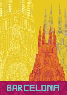 Experience the best study abroad programs in Barcelona, Spain. Illustrations Vintage, Illustrations Posters, Vintage Advertisements, Vintage Ads, Tourism Poster, Barcelona Travel, Travel Cards, Travel Illustration, Vintage Travel Posters