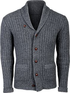 Mens hand knitted shawl collar cardigan Stylish and comfy. Any Sizes and Any Colors. Made by KnitWearMasters: of Satisfied Cu Mens Scarf Knitting Pattern, Hand Knitting, Shawl Collar Cardigan, Wool Cardigan, Knitted Shawls, Vintage Sweaters, School Fashion, Men Sweater, Mens Fashion