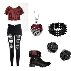 Time for warped tour!!!! ♥️♠️♥️ by alenahbiersack on Polyvore featuring polyvore, fashion, style, American Eagle Outfitters, Glamorous and Steve Madden
