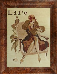 magnificent art deco Life magazine cover 1929 of by HolzundLeinen