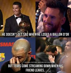 one of the thousands of reasons why Messi is the best futbol player ever Cristiano Vs Messi, Neymar, Messi Vs Ronaldo, Messi Messi, Funny Soccer Memes, Soccer Quotes, Sports Memes, Sport Quotes, Football Jokes