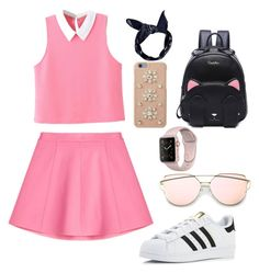 """""""Simple day"""" by liamariemarinez on Polyvore featuring moda, WithChic, RED Valentino, adidas, Boohoo e MICHAEL Michael Kors"""