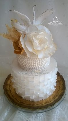 wedding cake wafer papier