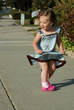 I made this dress for Brinlee--fast, easy, and she loves it!