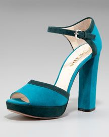 Totally dig this Prada shoe!  Turquoise is definitely in my repertoire!