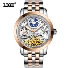 LIGE Mens High Quality Tourbillon Automatic mechanical Watches Men Top Brand Luxury Dive 50M Business full steel watch Man Clcok Love it?  #shop #beauty #Woman's fashion #Products #Watch