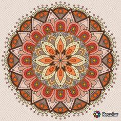Mandala Art, Mandalas Drawing, Mandala Coloring Pages, Mandala Painting, Mandala Design, Earth Colour Palette, Coloring Pages For Grown Ups, Madhubani Painting, Turkish Art