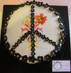 Hippie cake Hippie Cake, Cupcake Cakes, Cupcakes, Designer Cakes, Themed Cakes, Cake Designs, Amazing Cakes, Cake Ideas, Coffee Shop