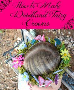 How to make fairy crowns, fairies, fairy costume, fairy party, fairy party favors, DIY Fairy Party