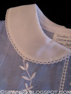 SewNso's Sewing Journal: sweetly embellished! A great blog for heirloom sewing techniques and patterns