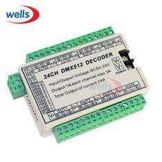 24CH Easy DMX Dmx512 Decoder,Controller,Drive,DC5V-24V 8 groups output for LED strip light,RGB node,module