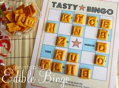 Printable bingo game ..... boy, the grandsons would LOVE this one!  Not sure we'd have enough pieces to play for long, though!