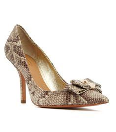 Shop the @Coach, Inc. Shoe Boutique at #ShopBAZAAR — Coach Landrie Snakeskin Bow Pump