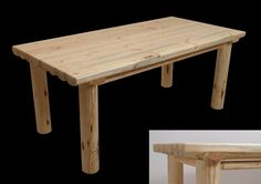 Forest-land | Обеденный стол из бревен сосны Snow Creek.