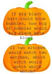 Tongue Twister W Halloween