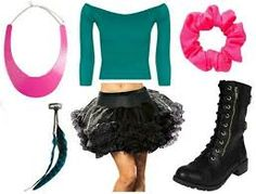 Image result for 80 outfit waist bag tights