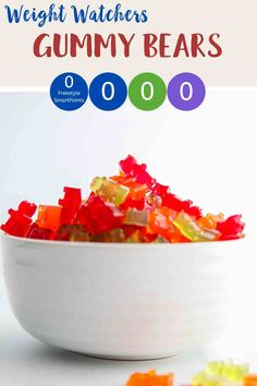 Looking for zero point candy? Then try these easy to make sugar free gummy bears. Just 3 ingredients and zero smartpoints on Weight Watchers Blue, Purple and Green plans. A tasty WW dessert recipe. #weightwatcherssnacks #weightwatchersrecipeswithpoints #zerosmartpoints #wwsnackrecipes Weight Watchers Plan, Weigh Watchers, Weight Watchers Smart Points, Weight Watchers Chicken, Weight Watchers Desserts, Sugar Free Gummy Bears, Ww Desserts, Dinner Meal, Ww Recipes