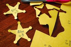 Cowboys and Cowgirls Birthday Party: Sheriff´s Badges to Print Out for Free.