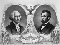 President Washington and President Lincoln, American heroes.