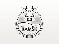 Organic farm logo design designed by Anže Šneberger. Adobe Illustrator Logo, Logo Adobe, Cow Logo, Farm Logo, Logo Inspiration, Modern Logo Design, Graphic Design, Logo Branding, Branding Design