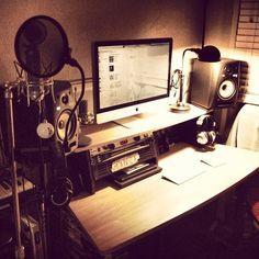 151 Home Recording Studio Setup Ideas Home Recording Studio Setup, Home Studio Setup, Studio Desk, Home Studio Music, Dream Studio, Studio Spaces, Home Studio Equipment, Audio Studio, Room Colors