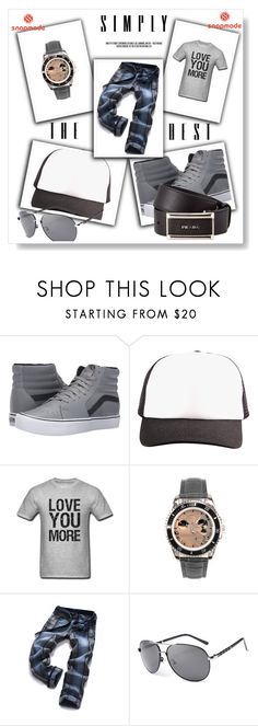 """SNAPMADE 19"" by anidahadzic ❤ liked on Polyvore featuring Vans, Prada, men's fashion and menswear"