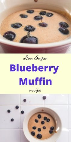 Healthy Blueberry Muffin for One Recipe | Healthy Dessert