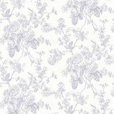 "Brewster Home Fashions 33' x 20.5"" Annie Floral Wallpaper Color: Blue"