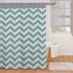 Ryder 72-Inch x 72-Inch Shower Curtain in Aqua/Grey