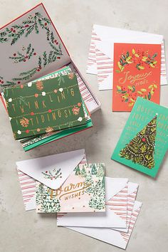 Winter Wishes Cards - anthropologie.com