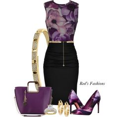 A fashion look from May 2016 by redsfashions featuring Versace, Paule Ka, Ted Baker, Signature Gold, Michael Kors and Forever New