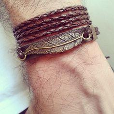 pulseira-masculina-pena-colar-masculino