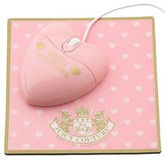 Juicy Couture Heart Mouse And MousePad:Makes Navigating The Information Super Highway A Whole Lot Sweeter.