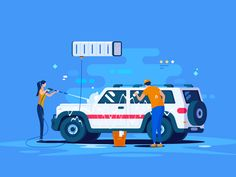 Car Wash designed by 小五 for innn. Connect with them on Dribbble; Car Wash Posters, Car Animation, Car Wash Business, Car Banner, Car Wash Services, Clean Web Design, Car Ui, Car Vector, Car Illustration