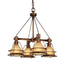 Troy Lighting F2054SBZ 4 Light Bristol Bay Chandelier, Sunset Bronze - Lighting Universe