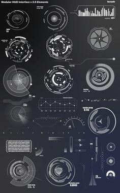 Infographics , UI Design et Web Design - Modular HUD Interface v Layout - CoDesign Magazine Web Design, Layout Design, Game Ui Design, Site Design, Flat Design, Gui Interface, User Interface Design, Conception D'interface, Logo Typo