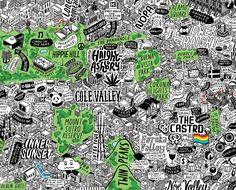 Hand Drawn Map of San Francisco - Jenni Sparks