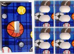 baseball basketball soccer balls blue boys by summitskycreations, $4.99