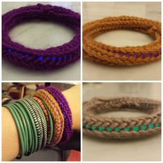 Today I posted a #tutorial for #knitting bracelets w/ #glowsticks - so much fun! #knithacker