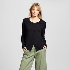 Women's Favorite Cardigan - Merona Black Tie S