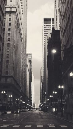 Financial District Chicago Street iPhone 6 Wallpaper