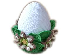 Crochet large Easter egg with floral ornament will complement any space in your room this Holiday season. Surprise your friends with this unusual Easter gift. Please note: this is a pattern only, not the finished item. You will receive a PDF file with step-by-step instructions,