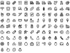 Native line icons pack - Round Icons Premium Food Icon Png, Food Icons, Stick N Poke Tattoo, Stick And Poke, All Icon, Icon Set, Icon Tattoo, Health Icon, Bullet Journal Key