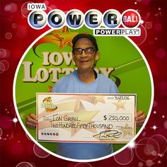 Congratulations to Lon Grail of Afton. He purchased a Powerball with Power Play ticket at Casey's General Store, 501 N. Douglas in Afton for Saturday night's Powerball drawing and won a $250,000 prize! Lon said he played his own set of numbers for years, but recently started buying easy pick tickets instead. He said the money will go to pay medical expenses and buy a lawn mower for his wife, Terri. ‪#WooHoo