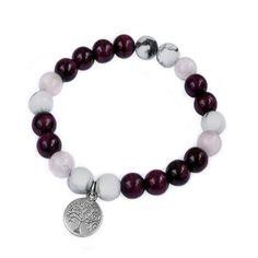 SUMMER VIBES ♡ Náramek z růžového tygřího oka, růženínu a howlitu s přívěškem stromu života. Summer Vibes, Tyga, Beaded Bracelets, Love, Beads, Jewelry, Rocks, Bangle Bracelets, Jewels