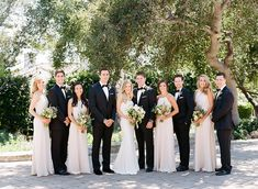 Paper Parasols, Yummy Cocktails, and a Dreamy Summer Wedding! Summer Bridesmaid Dresses, Champagne Bridesmaid Dresses, Black Bridesmaids, Black Bridal Parties, Wedding Parties, White Tuxedo Wedding, Summer Wedding Colors, Cocktails, Trendy Wedding