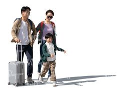 cut out asian family with travel bags walking Cut Out People, Travel Bags, Walking, Asian, Travel Handbags, Travel Tote, Walks, Suitcase Cake, Hiking