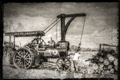 Traction Engine with Crane Steam Tractor, International Harvester, New Forest, Steam Engine, Crane, Old Things, Engineering, American, Technology